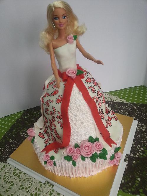 公主系列鮮果忌廉蛋糕 ~ 印花芭比