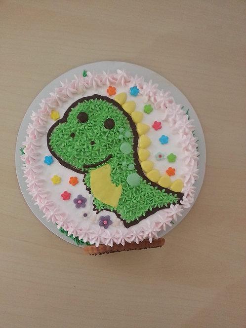 小恐龍鮮果忌廉蛋糕