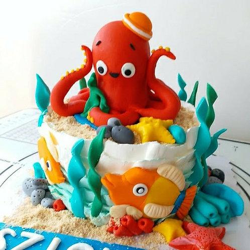 八爪魚海洋忌廉蛋糕