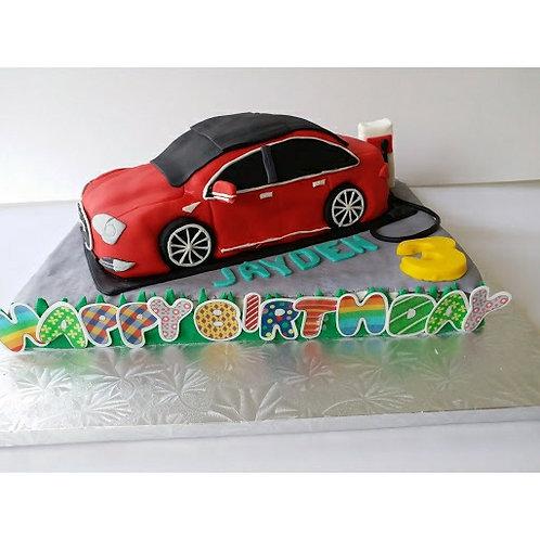 Telsa 汽車糖皮蛋糕