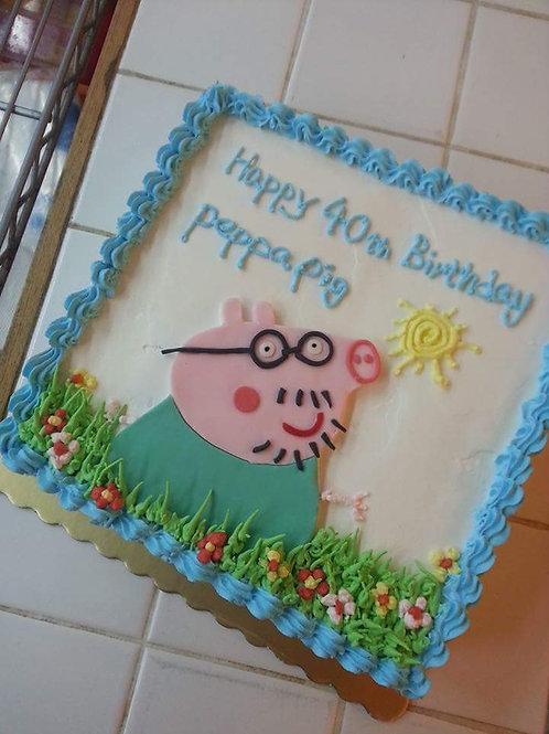 Peppa Pig 鮮果忌廉蛋糕