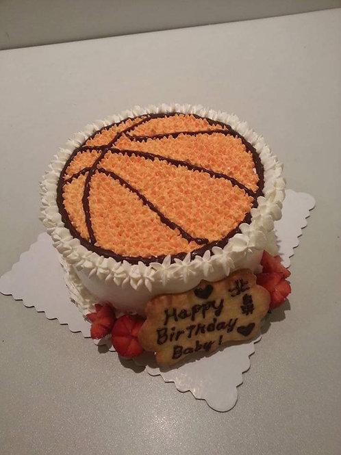 籃球鮮果忌廉蛋糕