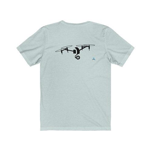 Unisex Jersey Short Sleeve Tee Drone Double SIde