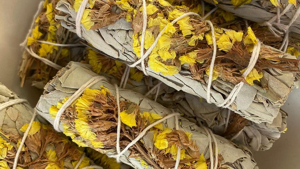 Yellow Sinuata & White Sage, 4 inch