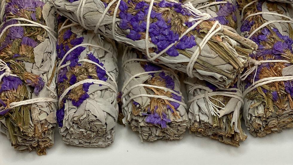 Purple Sinuata & White Sage 4 inch