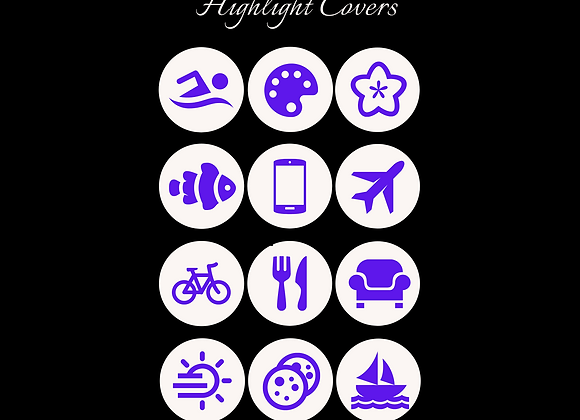 IG Highlight Icons