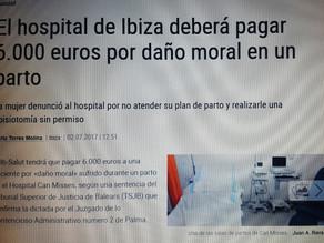 Hospital de Ibiza condenado a pagar seis mil euros por daño moral en un parto