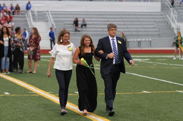 Anna Burns walking at coronation!