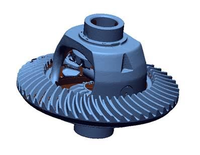 differential gearbox gears survey 3d laser scan faro bms design ltd
