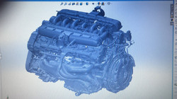 Ferrari engine 3d laser scan bms design ltd