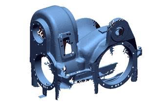 gearbox casing housing 3d laser scan reverse engineering faro bms design ltd
