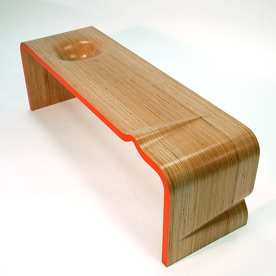bepoke table polished wood oak laminate