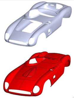 Ferrari testarossa classic car body car parts 3d laser scan reverse engineering faro bms design ltd