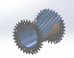 Plastic Mixer Screw Carbon Steel 3d Scan