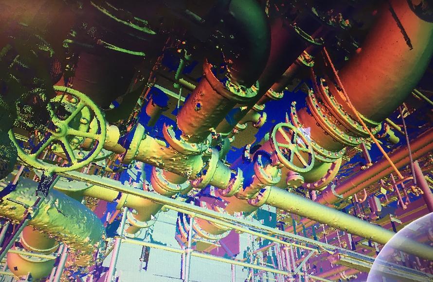 BMS Design 3D Scanning Survey Pipe Facil