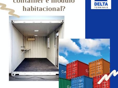 Qual a diferença entre container e módulo habitacional?