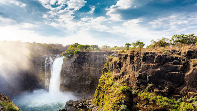 Zambia, in southern Africa, is a landlocked country of rugged terrain and diverse wildlife, with many parks and safari areas.