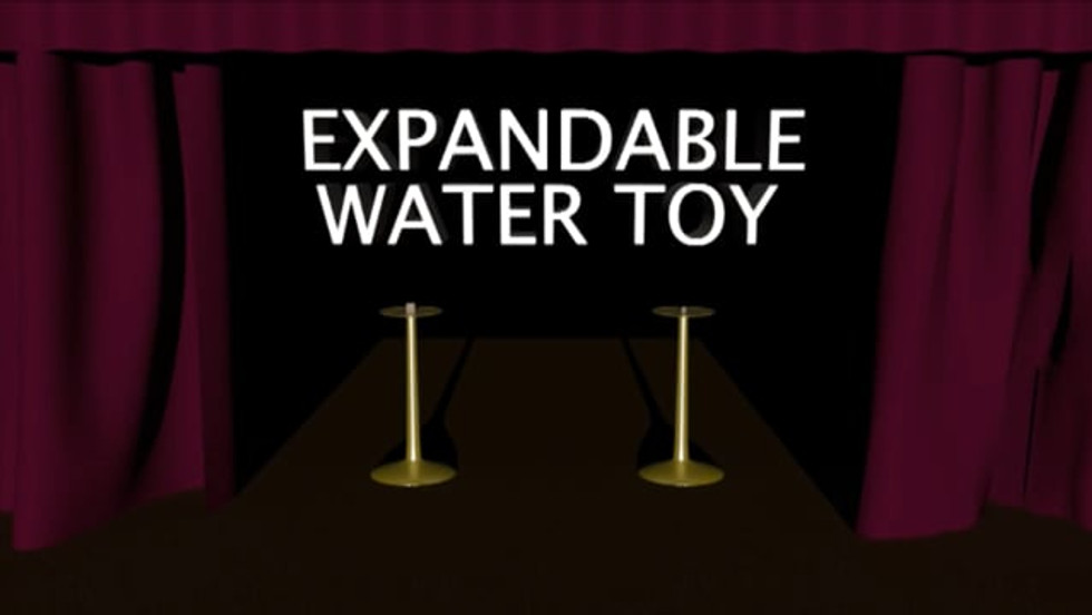 expandable water toy