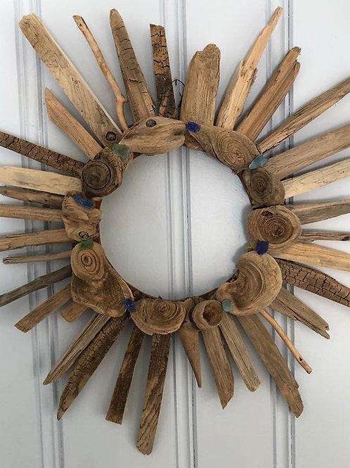 Driftwood Wreath/Seaglass