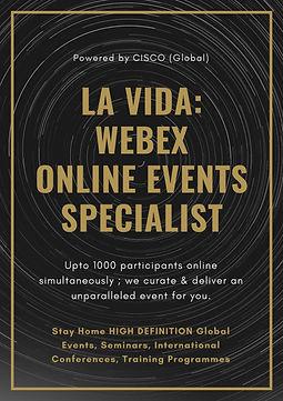 LA VIDA WEBEX Online Events Specialist F
