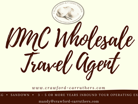 DMC Wholesale Travel Consultant - South Africa