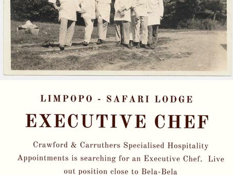 Executive Chef - Safari Lodge | Limpopo
