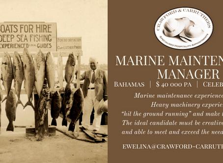 Marine Maintenance Manager - Bahamas