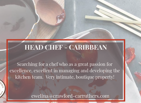 Head Chef for a Caribbean Boutique Hotel
