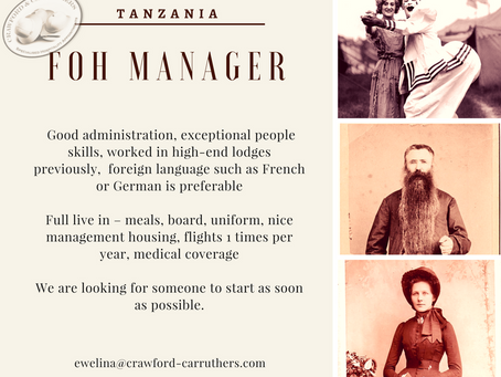 FOH Lodge Manager | Tanzania