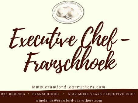 Franschhoek Executive / Head Chef