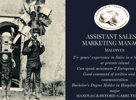 Assistant Sales & Marketing - Maldives
