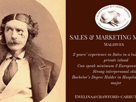 Sales & Marketing Manager | Maldives