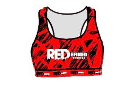 Red Electra Sports Bra
