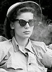 Lauren Bacall on the set of The African
