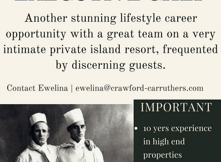 Executive Chef vacancy - Seychelles