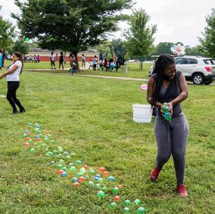 water ballon fight