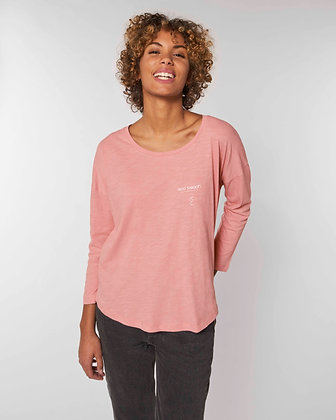 Pink Surfer T-shirt on casual woman