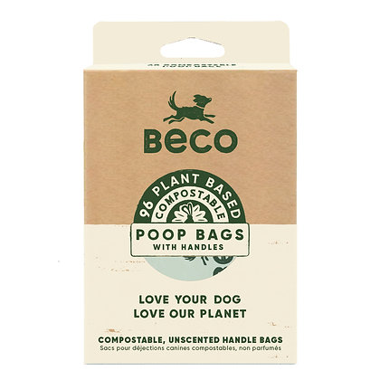compostable biodegradable poop bags with handles