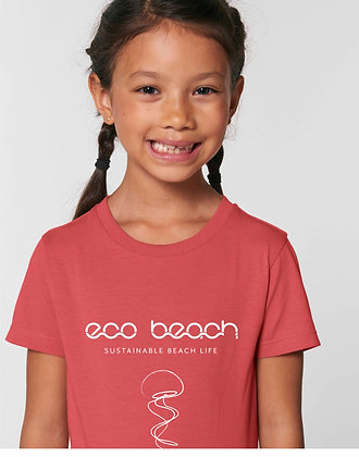 girls organic t-shirt red