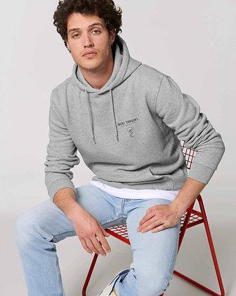 Mens organic grey beach hoodie