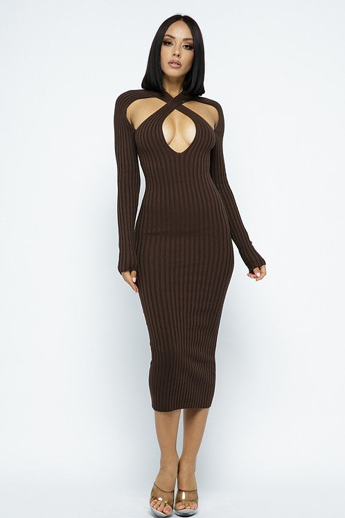 Long Sleeve X Dress