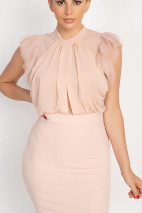Sleeveless Neck Dress
