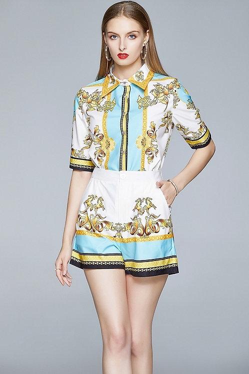 Collar Shirt & Shorts