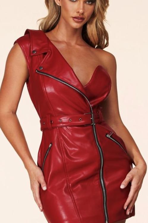 Red Zipper Skirt