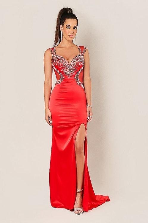 Open Back Side Slit Dress