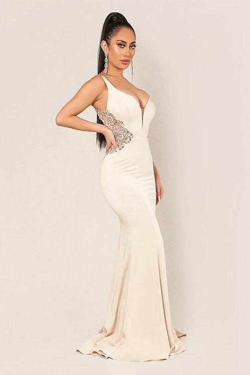 Open Back Embelished Dress