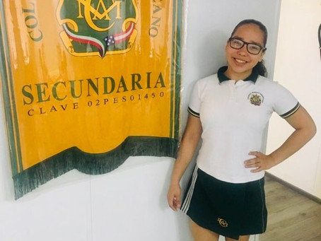 Alumna Valeria Ibarra de 2do grado de Secundaria pasa a la Olimpiada Nacional de Matemáticas, nivel