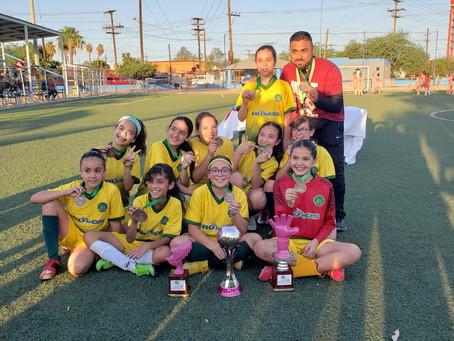 Equipo de Fútbol Femenil de CMA gana el 3er lugar en el Torneo de la Liga Integral de Mexicali.