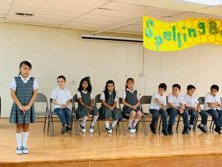 Excelente participación de los alumnos de 3er grado de Primaria en el Concurso de Spelling Bee 2019.