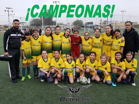 Campeonas Municipales Equipo de Fútbol CMA